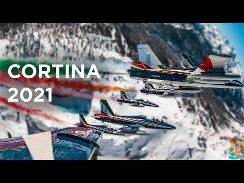 Cortina 2021 - Il sorvolo delle Frecce Tricolori sulle Dolomiti