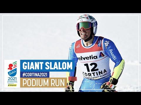 Luca De Aliprandini | Silver | Men's Giant Slalom | 2021 FIS World Alpine Ski Championships