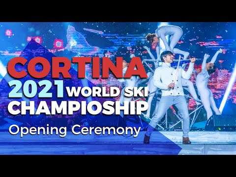 Cortina 2021 Opening Ceremony 🎿 World Ski Championships ❄️ (Andrea Casta, the violinist cut) 🎻